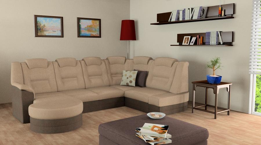 Végtelen Kényelem Elegant U alakú kanapé