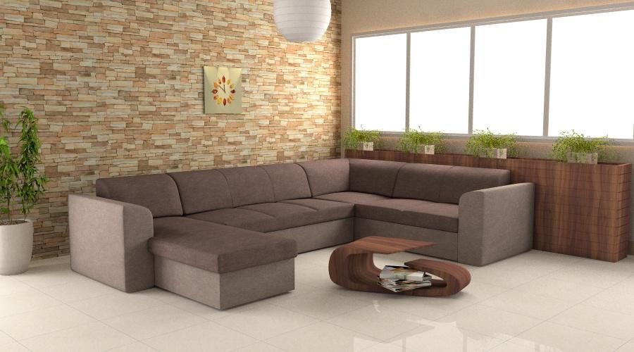 Gambino kanapé U alakú kivitelben