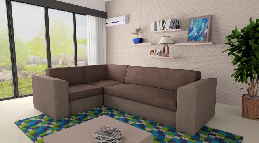 Genovese kanapé L alakú felépítésben