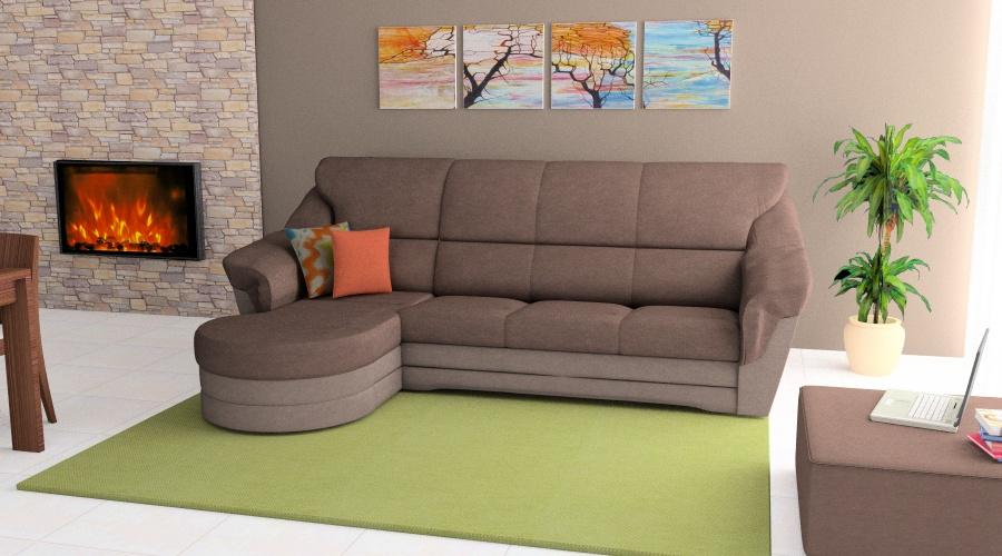 Komfort kanapé L és U alakú összeállításban