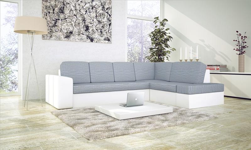L alakú kanapé egyedi szövet összeállítással