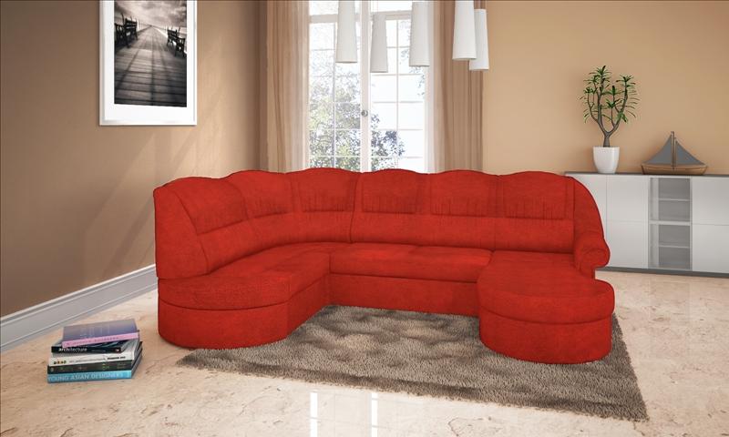 Praktik kanapé u alakban vörös kárpittal