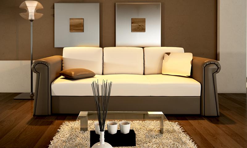 Ágyazhaó kanapé meleg színekkel