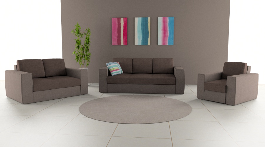 LMS ülőgarnitúra barna színösszeállítással