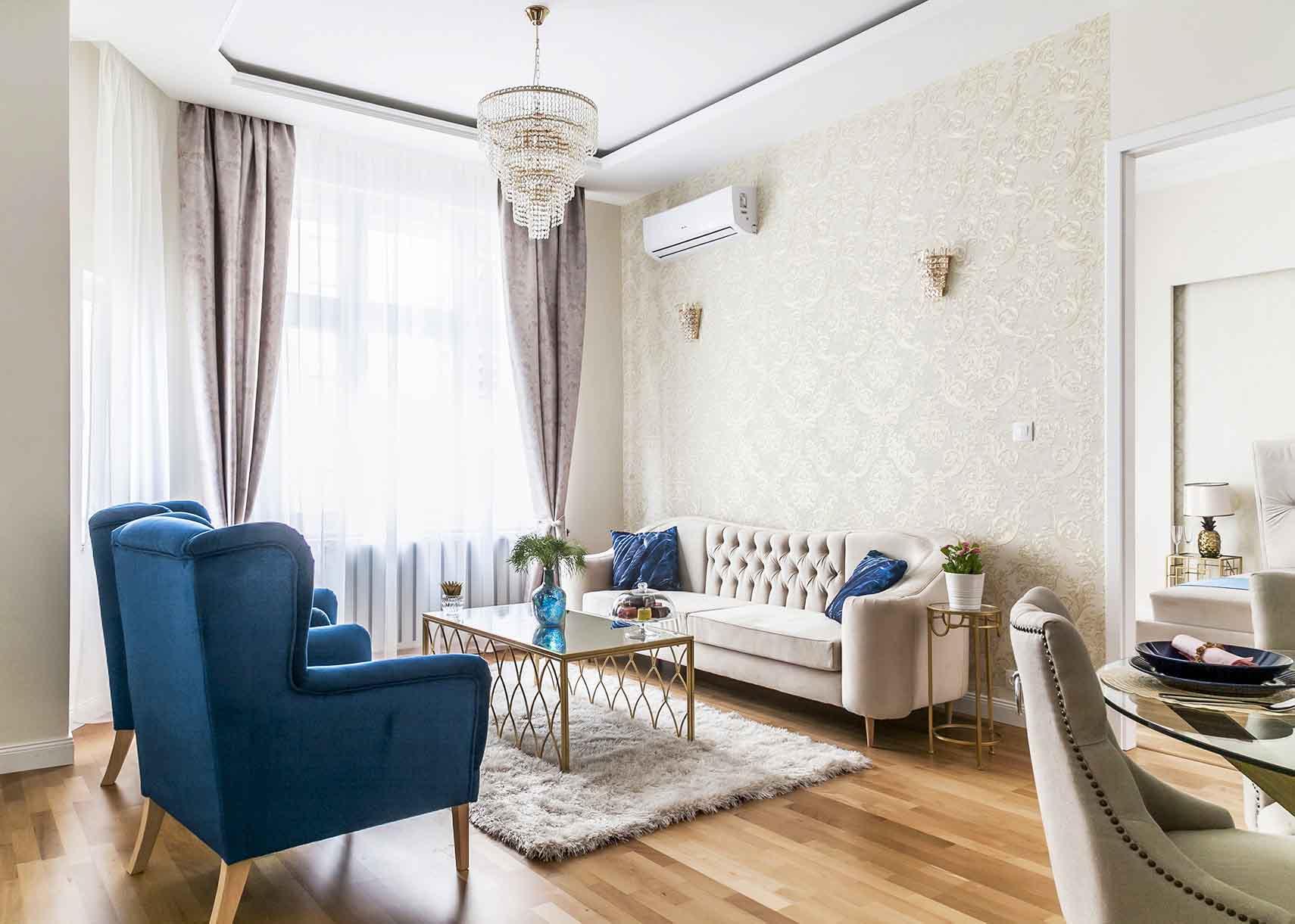 Hangulatos nappali egyedei bútorokkal