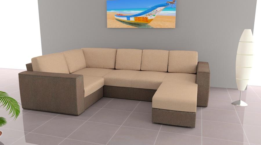 LMS u alakú kanapé