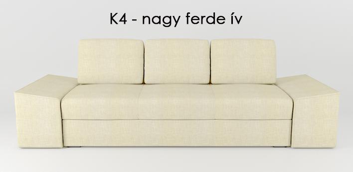 LMS kanapé K4 nagy ferde ív