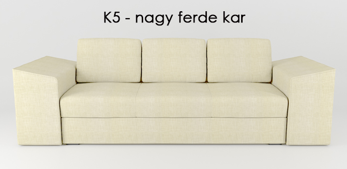 LMS kanapé K5 nagy ferde kar