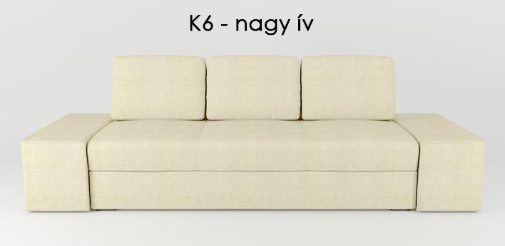 LMS kanapé K6 nagy ív